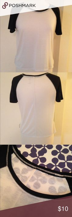 Urban Outfitters BDG Tee BDG baseball tee purchased from Urban Outfitters in 2015. Semi-sheer. Great for layering. BDG Tops Tees - Short Sleeve