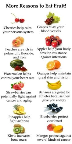 "Reasons to eat fruit.  yay! more healthy stuff... should i rename my board, ""Healthy food: My new obsession"" ? lol"