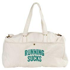 Running Sucks Duffel Bag #runners #sweat #bags