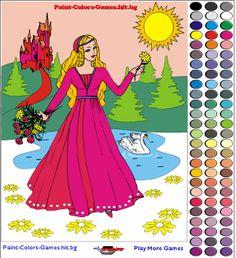 Colorear la imagen de una princesa