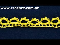Puntilla N° 49 en tejido crochet tutorial paso a paso. - YouTube