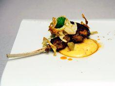 Richard Blais, Spike Mendelsohn, Tre Wilcox, and Stephen Asprinio's Crispy Lamb Chop with Artichoke 3 Ways