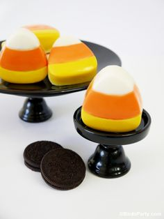 Candy Corn Chocolate Covered Oreo Cookies