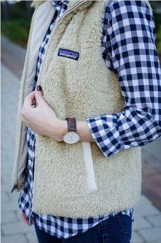 Patagonia Women's Los Gatos Khaki Fleece Vest Large Sold Out | eBay