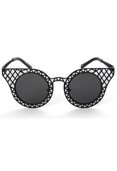 Cut Out Metal Frame #Cat #Eye #Sunglasses