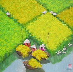 Rice field by Vietnamese Artist To Ngoc