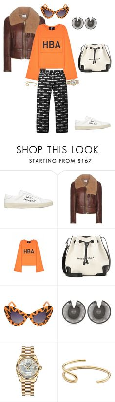 """""""Untitled #19"""" by marquishamiller5 on Polyvore featuring Yves Saint Laurent, Vetements, Hood by Air, 3M, Balenciaga, Linda Farrow, VOJD Studios, Rolex and Fay Andrada"""