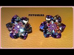 TUTORIAL DIY | Come fare un fiore con cuori swarovski e creare un paio di orecchini a perno