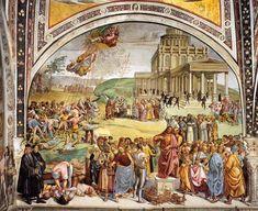 SIGNORELLI, Luca Sermon and Deeds of the Antichrist 1499-1502 Fresco, width 700 cm Chapel of San Brizio, Duomo, Orvieto