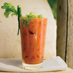 Fresh Tomato Bloody Marys | The ingredients for Andreas Viestad's fiery Bloody Mary all come from his garden. Like a classic Bloody Mary made with tomato juice, it's a delicious brunch cocktail—with or without vodka. For savory flavor, add a few drops of Worcestershire sauce to each drink.