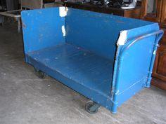 Heavy Duty Blue Cart