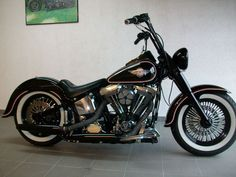 Harley Davidson Fat Boy Bobber FLSTF EVO old school #harleydavidsonbaggeroldschool #harleydavidsonbobbersoldschool