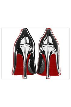 Funky Pop Art from Oliver Gal Gallery    Oliver Gal 'Louboutins II' Canvas Art Print