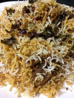 Hyderabadi Mutton Biryani Recipe is one of my most favorite mutton biryani recipes which is a dum method and I love making mutton dum biryani all the time. Halal Recipes, Veg Recipes, Spicy Recipes, Cooking Recipes, Cooking Tips, Keema Recipes, Yummy Recipes, Yummy Food, Amigurumi