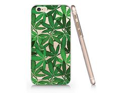 Cannabis Weed Leaves Slim Iphone 6 6S Case, Clear Iphone ...