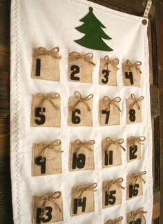 Advent Calendar Brown packages tied up with string by BooBahBlue, $72.00