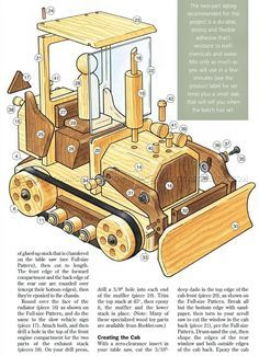 Wooden Toy Bulldozer Plans - Wooden Toy Plans