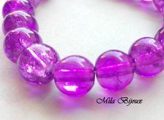 perle viola crackle 8 mm, by Mila Bijoux, 0,30 € su misshobby.com