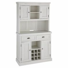 Cabinet with wine rack.