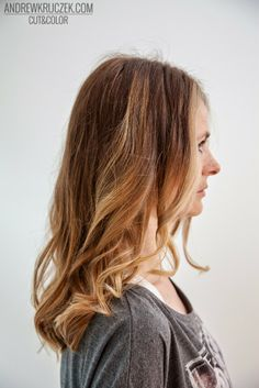 Cold blond base with golden highlights in KHCsalon