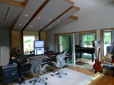 A Modern Fresh Home Music Studio | Photos, Designs, Pictures
