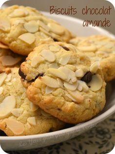 Biscuits chocolat amande aux jaunes d'oeuf