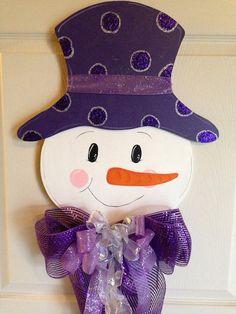 CHRISTMAS DOOR Hanger SNOWMAN/ Winter  Wood  Home by Toleshack, $39.50