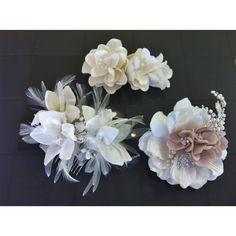 Vintage inspired floral bridal hair pieces from #SecondSummerBride & #BlushBridalLounge <3