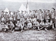 Boer police at the front in the Boer War 1899 to 1901