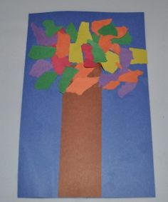 Colorful Fall Leaves Construction Paper Craft for Children | French Toasty