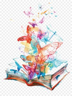 This PNG image was uploaded on February am by user: SuinegPlayzz and is about Art, Booking, Book Vector, Comic Book, Flying. Butterfly Watercolor, Butterfly Art, Watercolor Paintings, Butterfly Illustration, Book Illustration, Freundin Tattoos, Wreath Drawing, Book Drawing, Cute Wallpapers