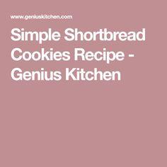 Simple Shortbread Cookies Recipe - Genius Kitchen