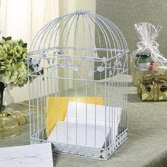 Amazon.com: White Birdcage Wedding Gift Card Holder Wishing Well: Home & Kitchen