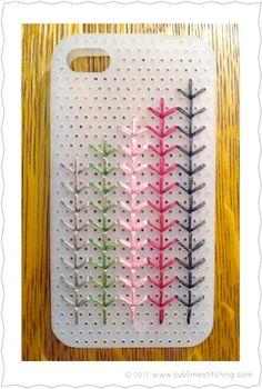 By now, you've probably already seen those snazzy cross-stitched iPhone cases. Jenny at Sublime Stitching had seen them too, and was wishing for something that would be a little more friendly to tr...