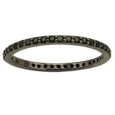 Beverly Hills Charm 10k Black Gold 1/3ct TDW Black Diamond Eternity Band Ring - Overstock™ Shopping - Top Rated Beverly Hills Charm Diamond Rings