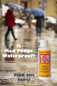 """I run a Mod Podge blog and get asked all the time, """"Is Mod Podge waterproof?"""" Find the answer here, with more details (and solutions) if you're interested! via @modpodgerocks"""
