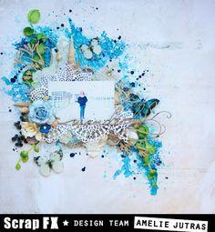 Little chef & Wonderful – by Amelie Little Chef, Amelie, Floral Wreath, Mixed Media, Blog, Scrapbooking, Journal, Decor, Art