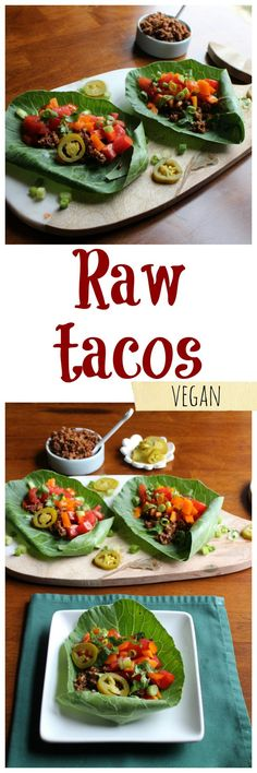 Its Fast And Easy To Make Raw Tacos With Walnut Taco Filling At Home No Dehydrator Or Expensive Blender Required Of Course Stove Either