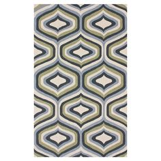 Hand-hooked wool rug with a multicolor ogee motif.  Product: RugConstruction Material: 100% WoolColo...