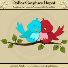 Love Birds - Cutting Files / Paper Piecing Patterns - $1.00 : Dollar Graphics Depot, Quality Graphics ~ Discount Prices