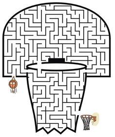 Tons of free printable mazes free basketball, basketball party, basketball teams, basketball crafts Basketball Crafts, Free Basketball, Basketball Academy, Basketball Slogans, Basketball Tattoos, Basketball Videos, Basketball Floor, Basketball Shirts, Mazes For Kids