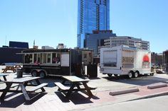 Visit the #foodtrailers in Downtown Austin!