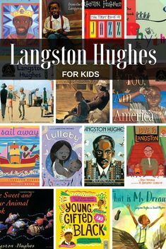 Langston Hughes Books for Kids. A leader of the Harlem Renaissance: his poetry are as relevant now as ever. These pictures books introduce kids to his life and major works. Good for black history month or ANY time. Black History Month Canada, Black History Month Poems, Black History Month Activities, Black History Quotes, History For Kids, History Classroom, History Teachers, Multicultural Classroom, Poetry For Kids