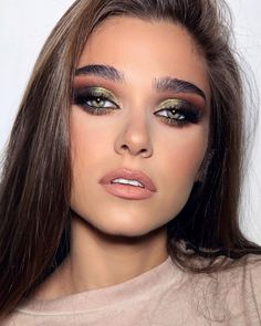 Get Free Cosmetic Products! Bold Makeup Looks, Makeup Looks For Brown Eyes, Creative Makeup Looks, Glam Makeup Look, Gorgeous Makeup, Love Makeup, Makeup Inspo, Makeup Art, Makeup Inspiration