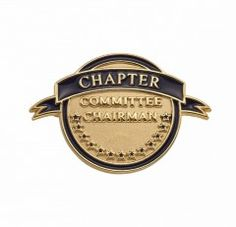 Chapter Committee Chairman Pin for current or past service as a Chapter Committee Chairman. #NSDAR