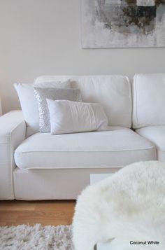 Coconut White: Ikea Kivik sofa white