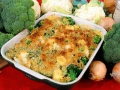 This broccoli cauliflower casserole dish is a tasty and healthy side dish for any occasion. It's a veggie casserole recipe that will be popular...