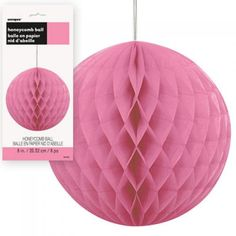 Pink paper honeycomb decorations http://www.wfdenny.co.uk/p/hot-pink-honeycomb-decoration/4264/