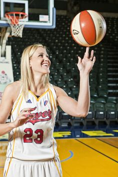 Katie Douglas #23 of the Indiana Fever