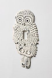 $18 Owl Switchplate. joey's room needs this.